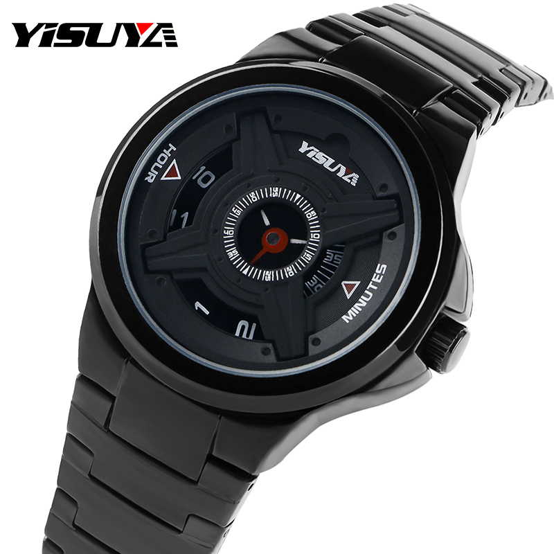 Creative Watches Turntable Quartz Military Sport Daily Water Resistant Men Wrist Watch Army Stainless Steel Band Unique quartz clock fashion men s watches newly creative black stainless steel silver gentlemanly military sport wrist watch noble c4