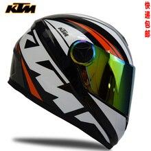 KTM sports racing helmets motorcycle helmet 4 season anti fog the riding safety helmet