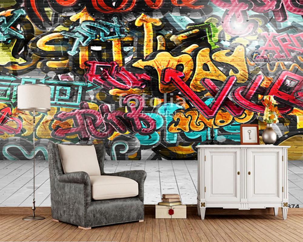 Kundenspezifische kinder tapete, Graffiti auf wand, fresken für ...
