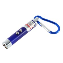 1PC LED Lazer 3 in 1 Mini Red Laser Pointer 2 LED Flashlight UV Torch With Keychain Newest