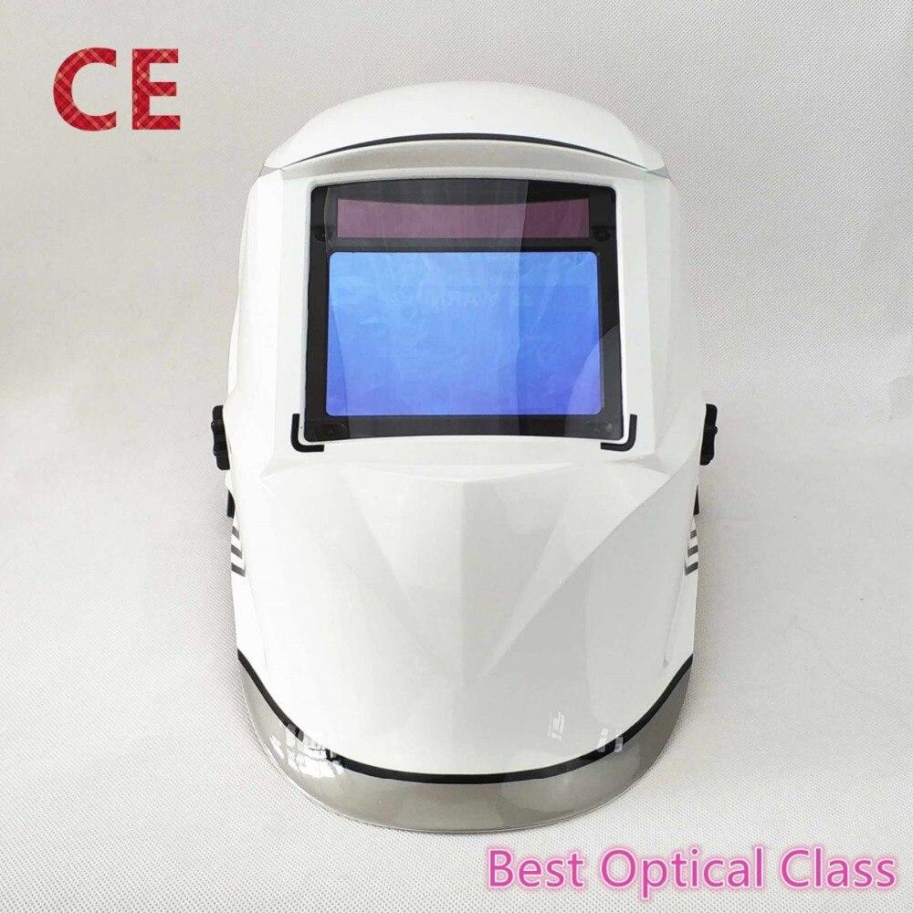 Schweißen Helm 100*65mm 1111 4 Sensoren Schleifen DIN 3/4-13 MMA MIG/MAG TIG CE /UL/CSA/ALS Cert Solar Auto Verdunkelung Schweißen Maske