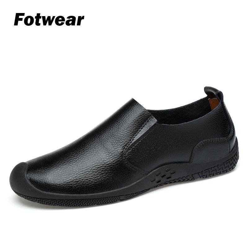 Fotwear Men Leather Casual shoes Spring Summer Fall Business Casual Loafers Slip Ons Classic Leather Durable all leather uppers in Men 39 s Casual Shoes from Shoes