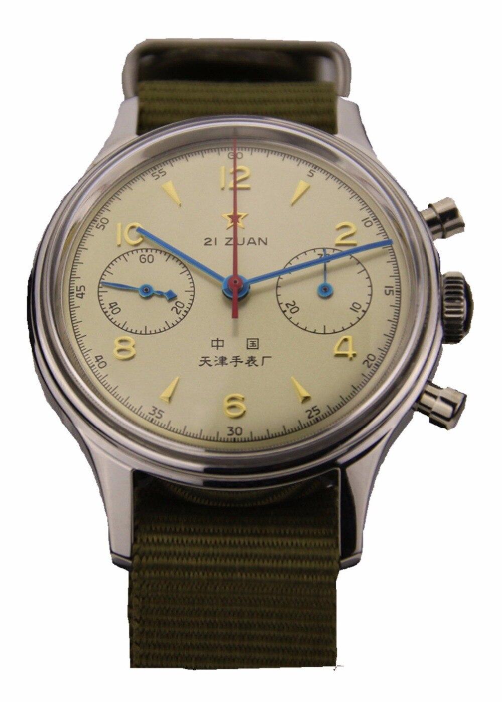 Gaivota genuíno Chronograph Mens relógio de Pulso Reedição 304 St1901 1963 Flieger Piloto Oficial Velho vertion Não limitado