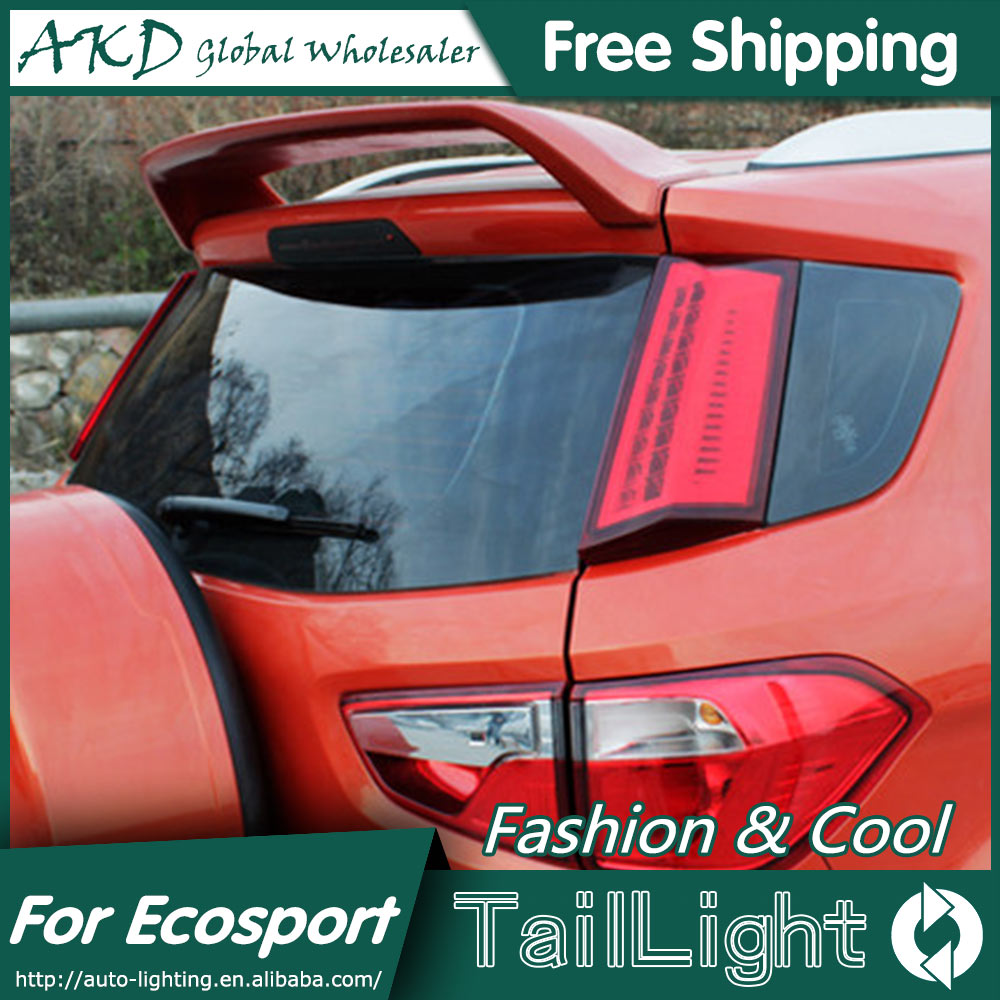 AKD Car Styling for Ford Ecopsort Tail Lights 2011-2014 Ecosport LED Tail Light LED Rear Lamp DRL+Brake+Park+Signal stainless steel motorcycle headlight grill protector headlamp grille lampshade for ktm rc125 rc200 rc390 2014 2015 2016