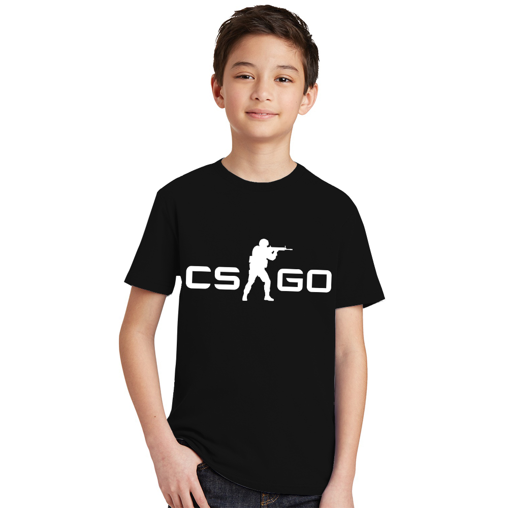 Tees Toddler Counter Strike Tshirt Teen Csgo-Logo Fashion Tops Short-Sleeve Summer Go-Game