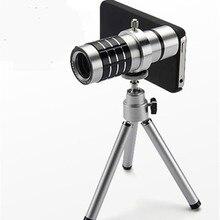 Suporte de Mesa de Metal Mini Câmera Tripé com 12 Vezes A Distância Focal do Telescópio HD Perspectiva Ultra-longe Do Telefone Móvel tiro