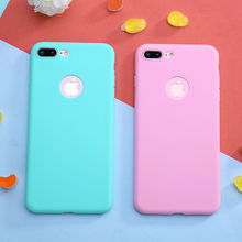 2019 Candy Color Silicone Cases for iPhone 7 Mobile Phone Bags & 6 6s Plus Soft Back Cover 8