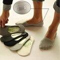 2017 Новых мужчин 5 цвет короткие носки Классический Мужской 100% бамбука и хлопок Человек-Невидимка носок тапочки мелкая рот не Корабль носки