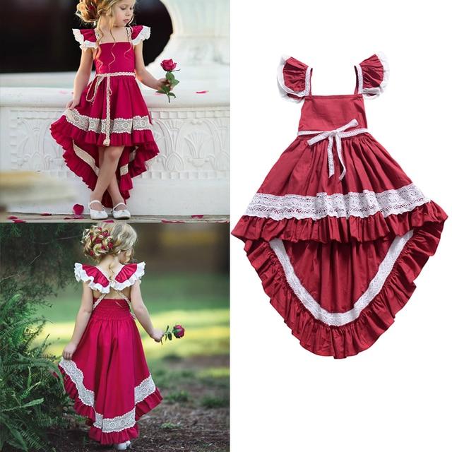 insular Summer Girls Sling Flying Sleeves Princess Dress