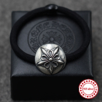S925 Sterling Silver Headband Personality Retro Models Hip Hop Punk Style Hexagram Hair Accessories Send Lover