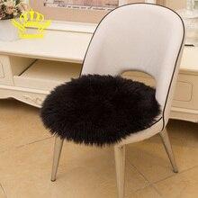 ROWNFUR, мягкий ковер из искусственной овчины, плюшевые коврики для дома, гостиной, детской комнаты, декоративный стул, подушка, мохнатые, круглые коврики