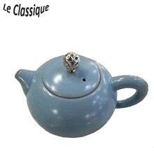 Elegant Blue Ru Kiln Керамический чайный горшок со специальной крышкой и классическим внешним видом
