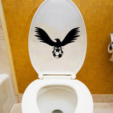 21.4*14.5 Soccer Ball Bird Sports Vinyl Bathroom Wall Sticker Home Decor  Toilet Decal 6WS0136
