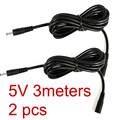 2Pcs 10ft DC 5V 2A Extension Power Cable Cord 3M 3.5*1.35 For Foscam Wanscam IP Camera