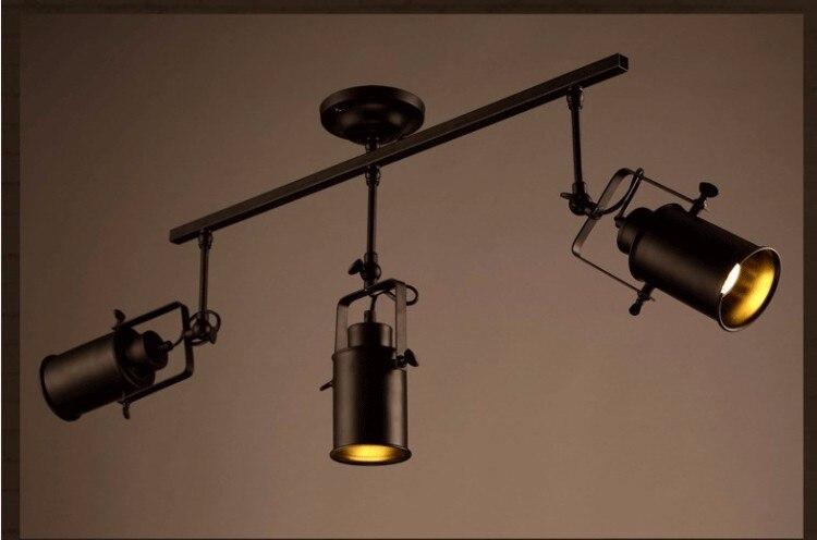Industrielle LED Spot Lampe Plafonnier Noir Vintage R tro Spot Light D9cm H35cm Livraison Gratuite 5 Bon Marché Plafonnier Noir Industriel Gst3