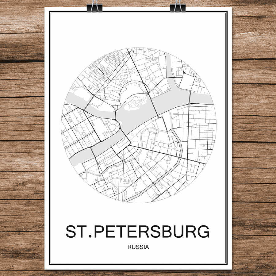 Detail Feedback Questions About Black White World City Map Of St