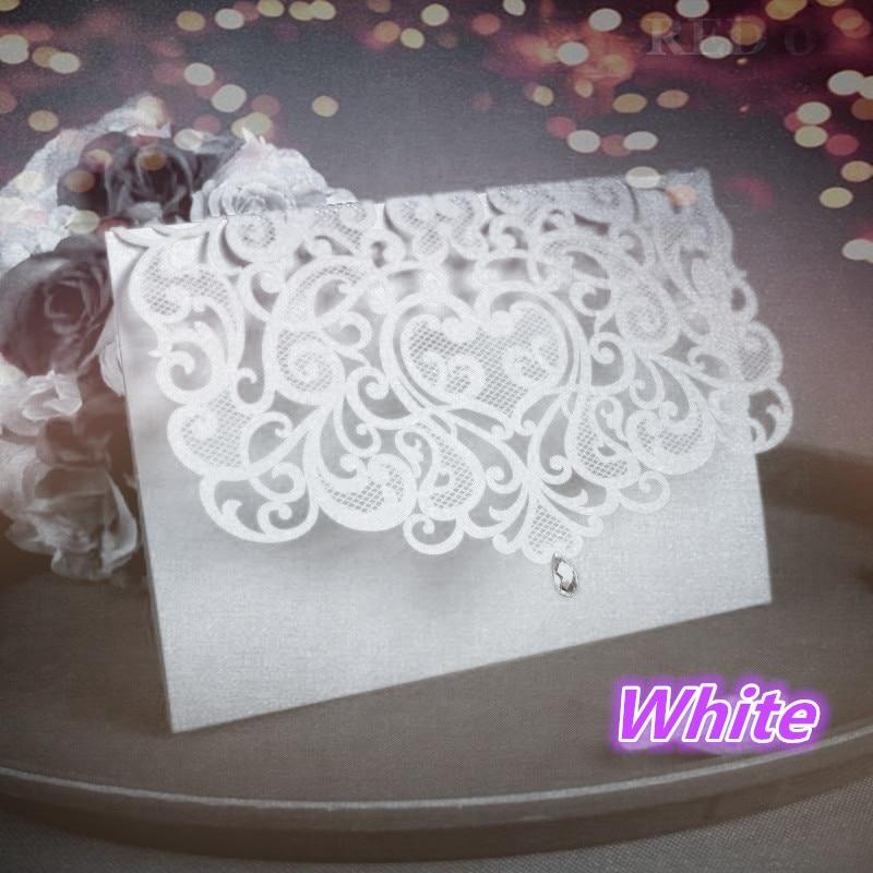 China Vintage Laser Cut Wedding Invitations White 50pcs Party Elegant Luxurious invitation Card Paper