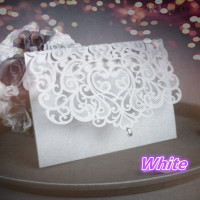 China Vintage Laser Cut Wedding Invitations White 50pcs Party Elegant Luxurious Invitation Card Paper