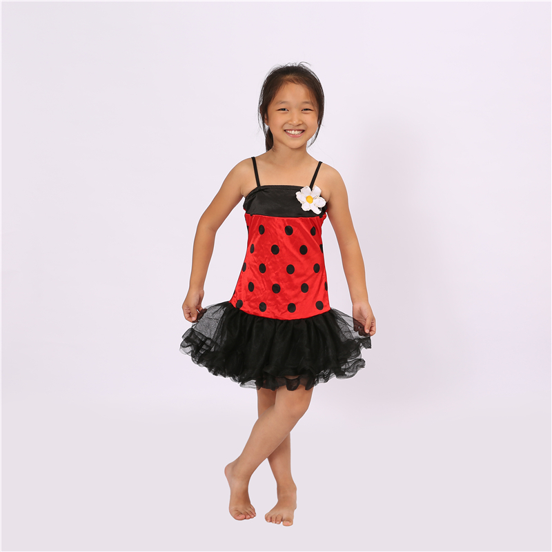 Miraculous Ladybug Girl Dresses Clothing Sets Halloween Party Cosplay Costume Marinette Little Beetle Suit Lady Bug Jumpsuit
