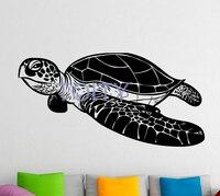 Sea Turtle Wall Decal Vinyl Stickers Sea Animals Home Interior Design Art Murals Bedroom Decor H55cm x W110cm/21.6 x 43.3