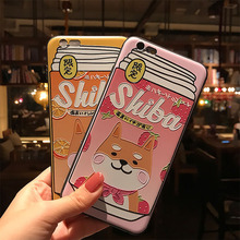 Japanese Shiba Inu Drink Phone Case iPhone 11Pro XS MAX XR Capa Coque iPhone 8 7 6S 6Plus SF