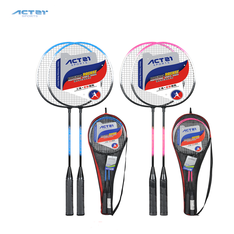2018 ACTEI Badminton Racket With Strings And Overgrip High Rebound Durable Light Weight Adults Badminton Racqu