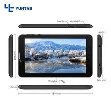 E706 Yuntab 2 colores 7 pulgadas 3g Android 5.1 Tableta Quad núcleo de la pantalla Capacitiva 1024*600 con soporte de Doble Cámara de doble SIM tarjeta