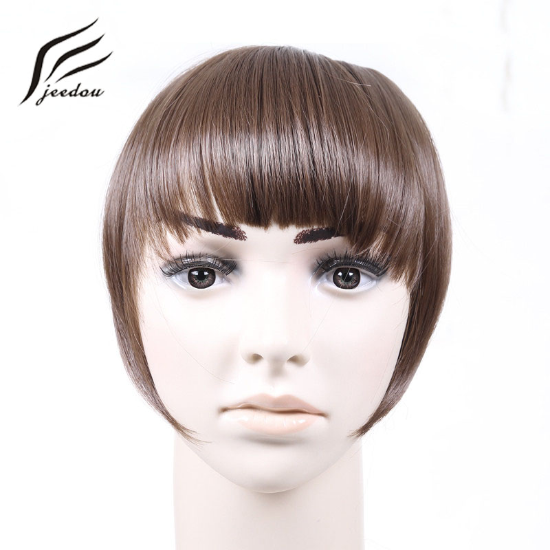 Big Sale Jeedou Short Front Neat Bangs Clip In Bang Fringe Hair