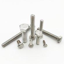 10pc m3 m4 m5 m6 m8 a2 304 de aço inoxidável métrica rosqueada din933 externo encanta o diâmetro 3/4/5/6mm da linha do parafuso do tampão da cabeça do hexágono