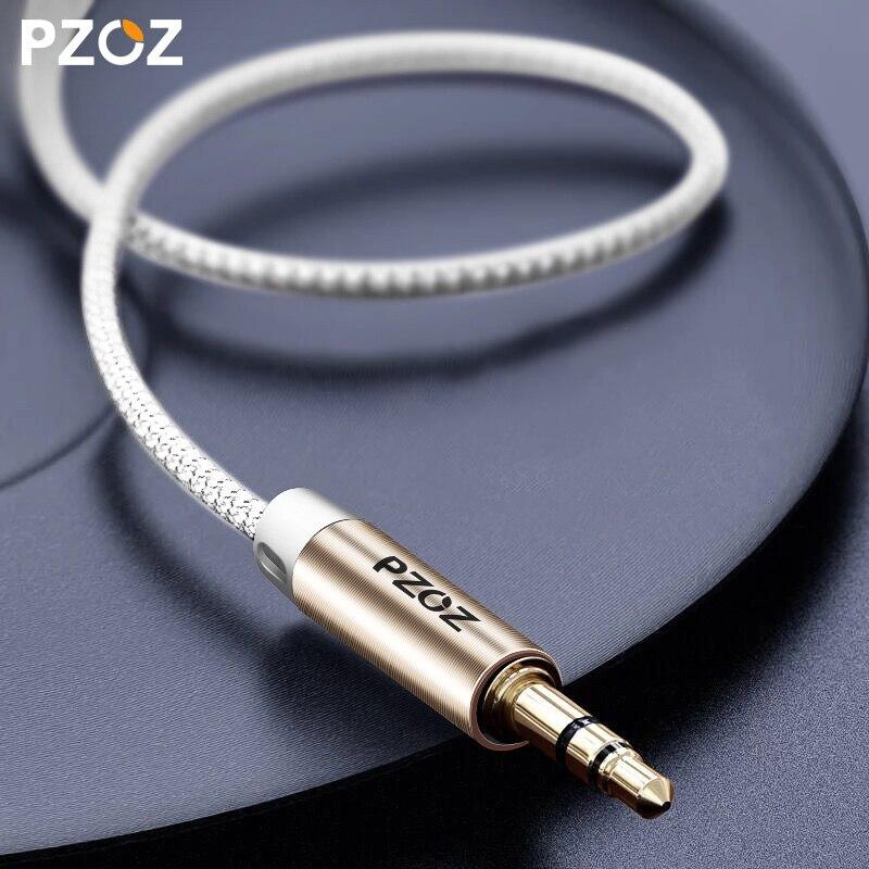 PZOZ Aux cable 3.5mm cord aux to aux 3 5mm jack Audio for car Music Player Speaker Phone Headphone Laptop Map Navigation MP3 MP4 стоимость
