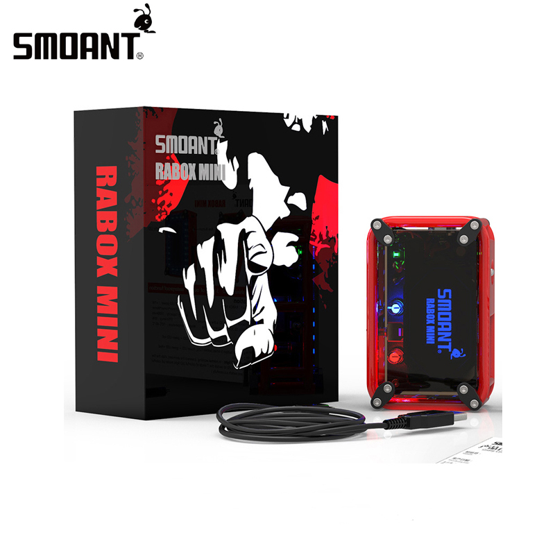 Original Smoant RABOX Mini Mod 120W 3300mAh battery Fit Battlestar RDA Tank Atomizer vaporizer Electronic cigarette Vape Box mod
