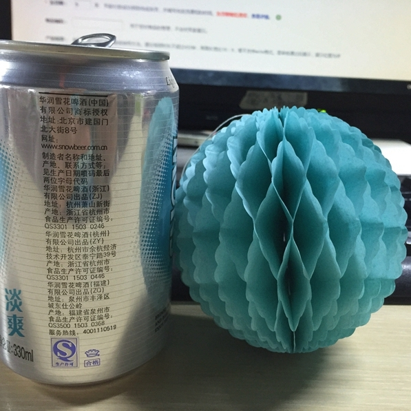 10pcTurquoise Blue 10cm Paper Honeycomb Balls Decorations Lace Edge Tissue Paper Decorative Balls For Wedding Birthday Party Dec