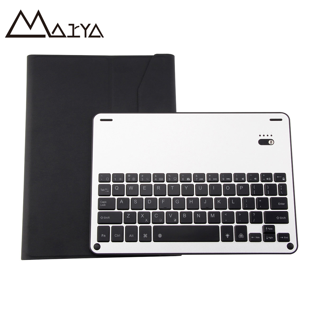 Aluminum Shine Keyboard For iPad Pro 10.5 2017 Tablet Removable Wireless Bluetooth Flip Leather Case For New iPad Pro 10.5 inch for ipad pro 9 7 2016 wireless bluetooth keyboard case for ipad pro 9 7 2016 aluminum alloy tablet flip stand cover stylus