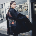 [XITAO] 2017 new Korea fashion female street style loose and heavy rivet embroidery straight waist windbreaker coat MMJ001