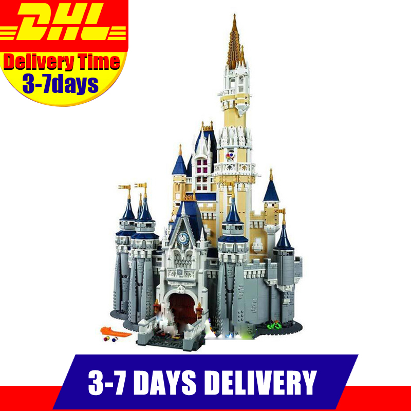 Free shipping 4160Pcs 2016 LEPIN 16008 Cinderella Princess Castle Model Building Kits Block Bricks Toys lepin 16008 4160pcs cinderella princess castle city model building block kid educational toys for gift compatible legoed 71040