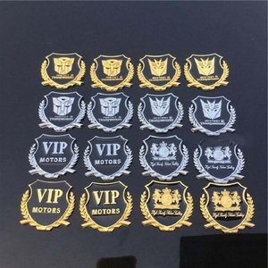 Image 4 - Metal  VIP Transformers 3D Car Sticker Individual  for car auto window tail car body decoration car styling