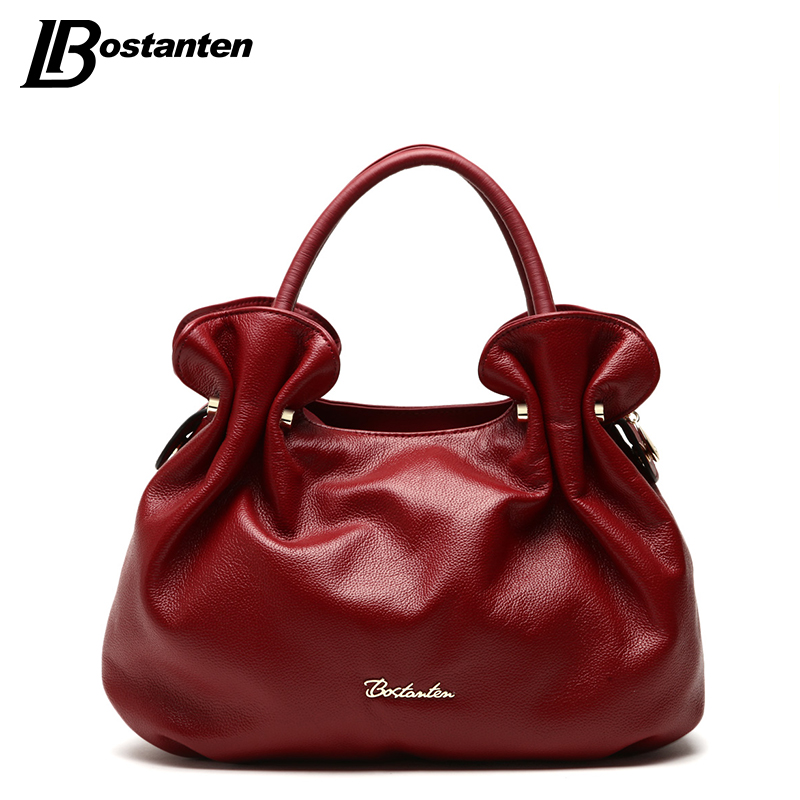 BOSTANTEN New Famous Brand Bag Women Genuine leather Small Ladies Handbags 2017 Women Fashion Bags Brand Design Sac A Main Femme qiaobao 100% genuine leather handbags new network of red explosion ladle ladies bag fashion trend ladies bag