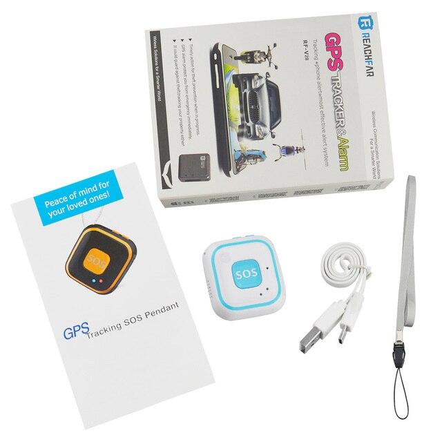 RF V28 Reachfar Mini GPS Micro Tracker Locator for Children Student Elderly  Tracking Device with Google Map SOS