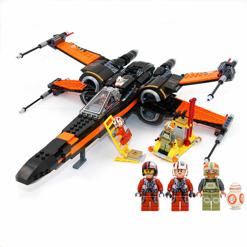 2 Type Star Wars First Order Poe's X wing Fighter Legoings Model Building Blocks Bricks Toys ...