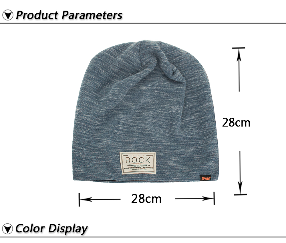 513739b5d Details about Winter Autumn Beanies Hat Unisex ROCK Label Warm Soft  Knitting Cap Hats