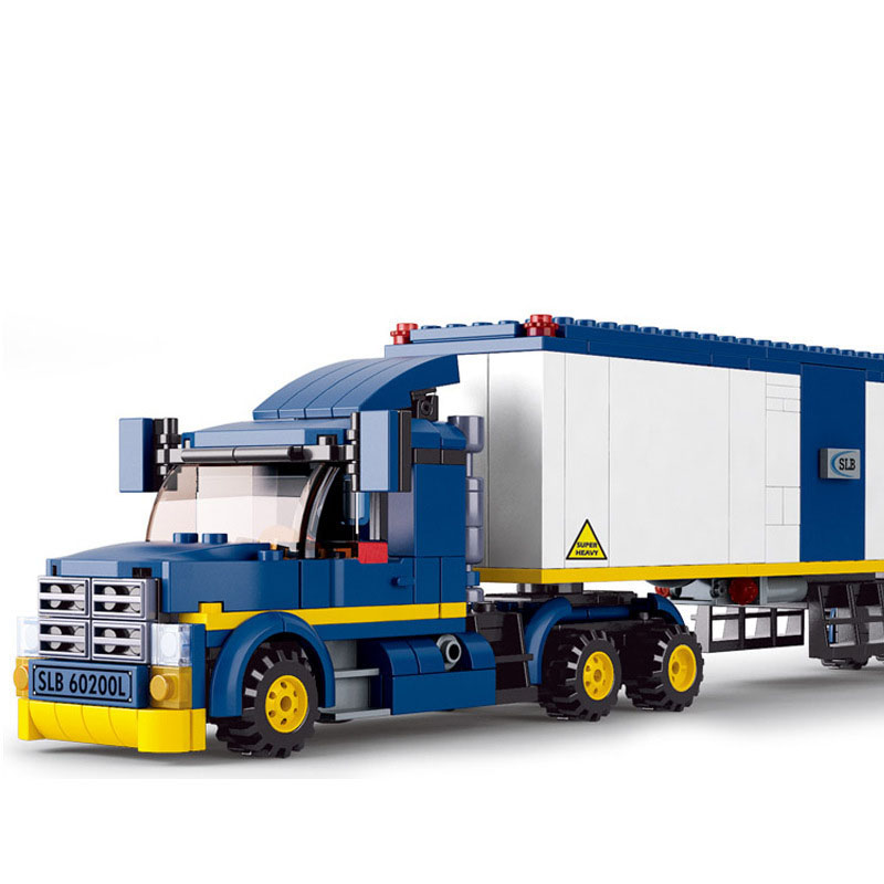 537Pcs City Container Cargo Team Truck Gas Station Building Blocks Compatible Legoings Simulation Toys Childhood Accompany 496pcs city school bus model building blocks compatible legoings educational diy toy intelligence toy childhood accompany