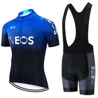 2019 azul INEOS Ciclismo pro jersey 20D pantalones de bicicleta traje Ropa para hombre Ciclismo de verano de secado rápido Maillot pantalones Ropa