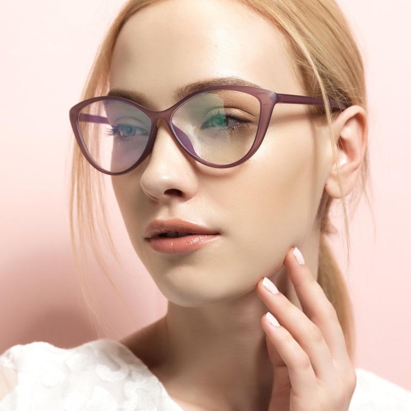 New Retro Fashion Women Cat Eye Eyeglasses Frames Clear