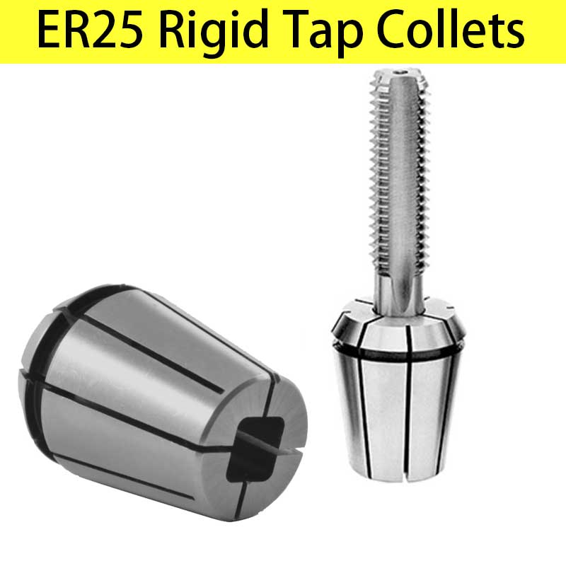 ER Rigid Tap Collets Tapping Collet Taps ER25 ERG 25 Square Drive Tapping ER Collet DIN 6499 Machine Taps collets Milling Tools-in Tool Holder from Tools