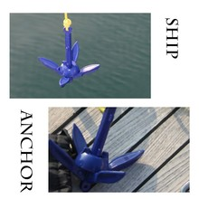 Rowing Accessories Folding anchor with rope 4 Tines Compact Anchor Buoy Kit Bag Marine Rope for Canoes Kayaks Sailboats #sx