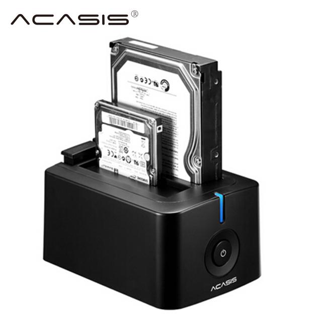 ACASIS USB 3.0 SATA3 Disco Rígido Docking Station para 2.5 polegada ou 3.5 polegada Hdd Caixa de disco rígido Clonagem Duplicador gabinete