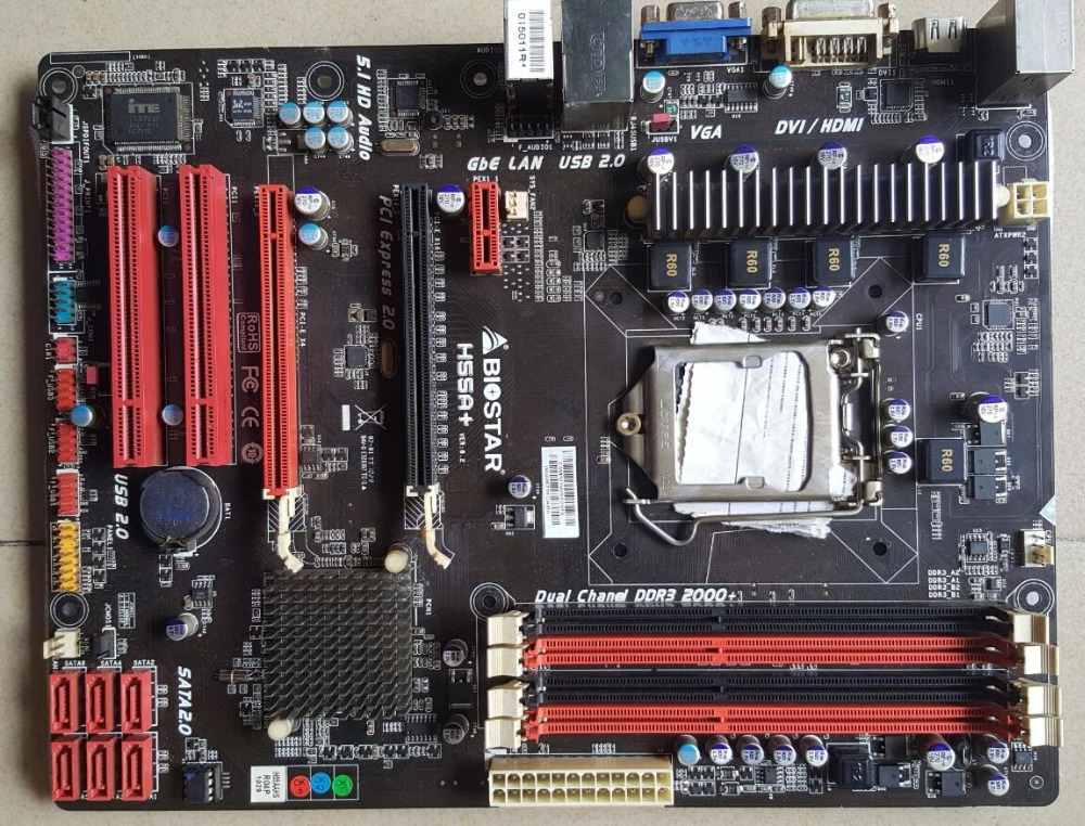 H55 Motherboard used original for Biostar H55A LGA 1156 DDR3 instead of P7H55 P7P55