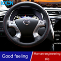 Hot Selling Universal Luxury Leather Anti-slip Steering Wheel Cover Case Auto Anti-Slip 38CM/36CM Car Styling Decoration
