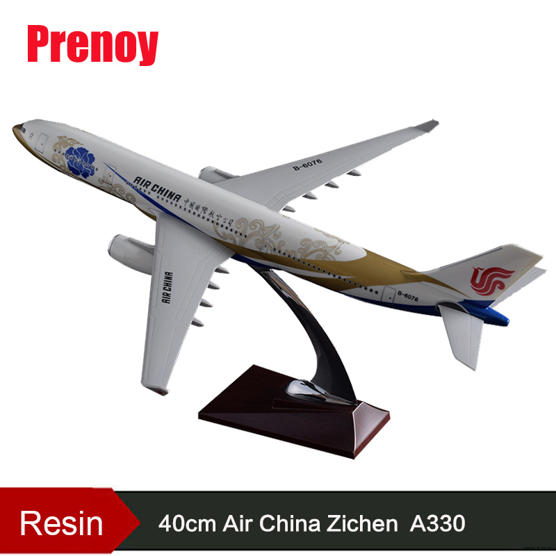 40cm Resin A330 Zichen Plane Model Air China Goldchen Airlines Airplane Airway Model A330 Airbus Chinese Aviation Model Gift Toy identifying