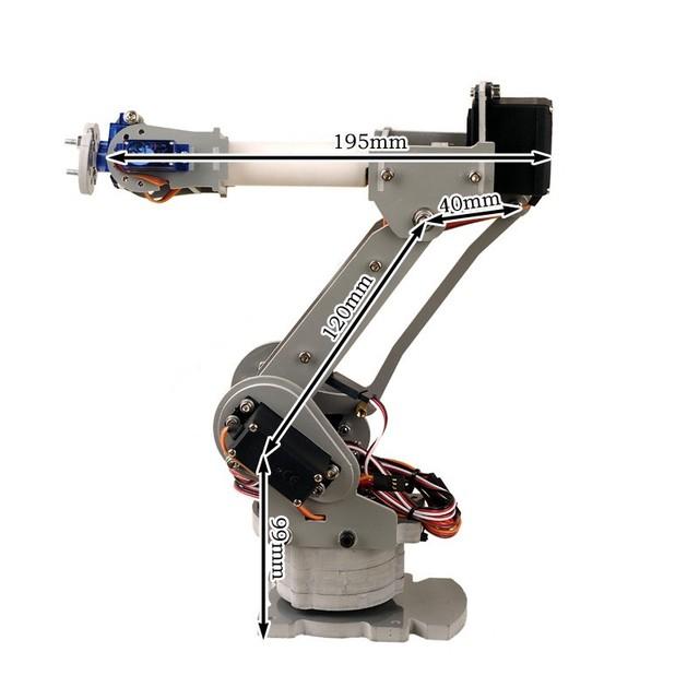 6DOF eixos de controle de laser mecanismo PalletPack de braço do robô industrial robô braço arduino